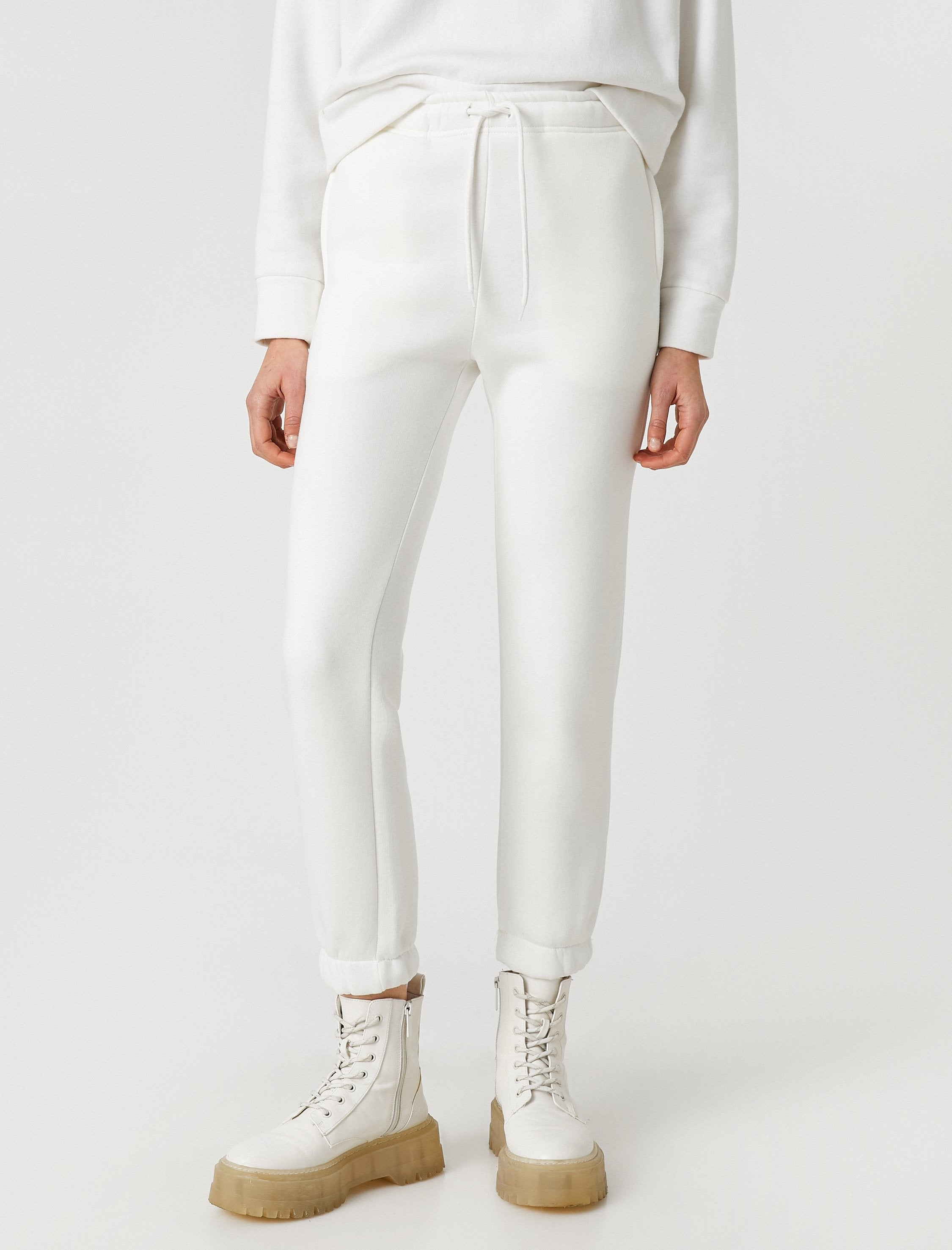 Copy of Girlfriend Jogger in White