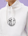 Graphic Funnel Neck Sweatshirt in White