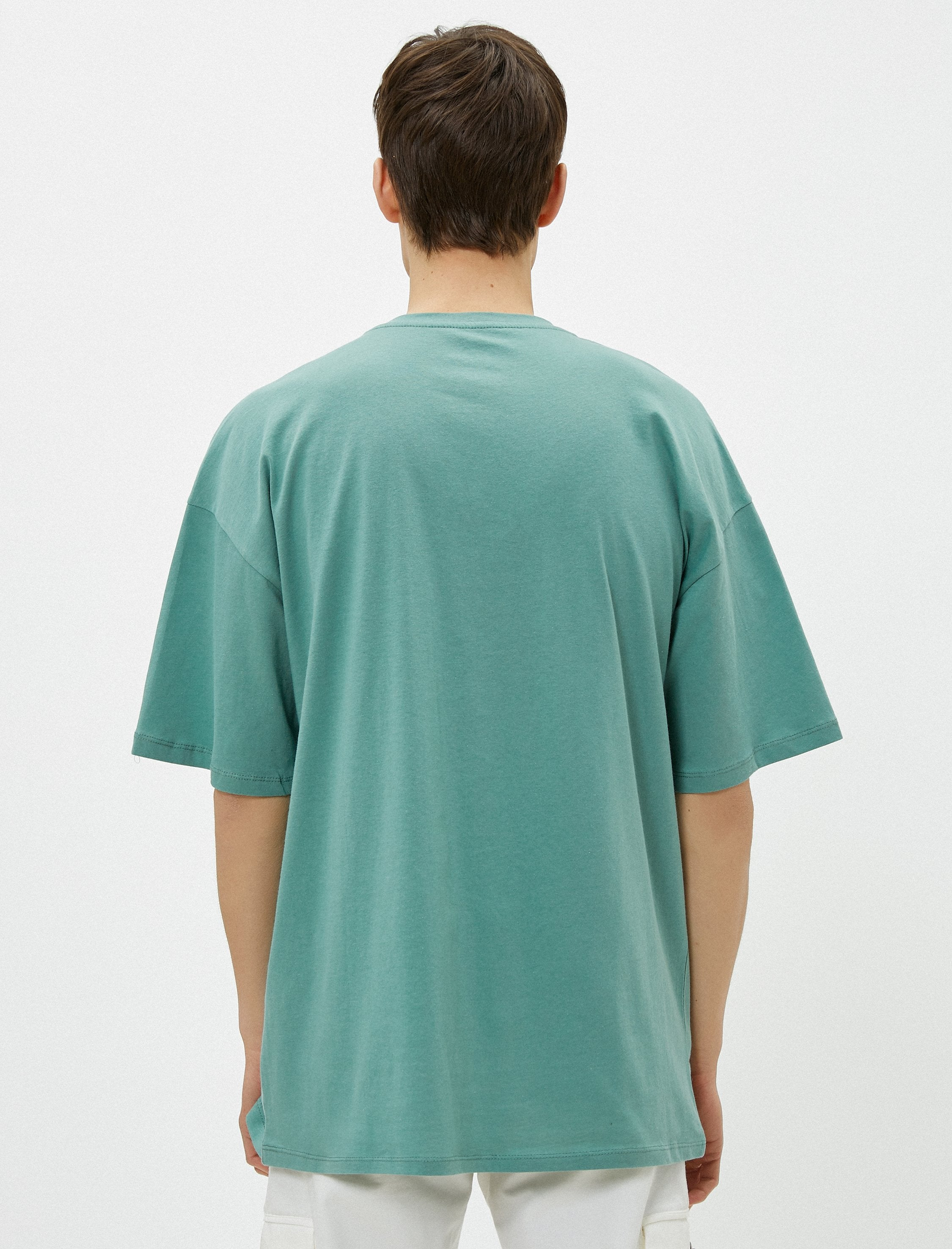Oversize Basic Tshirt in Teal Green