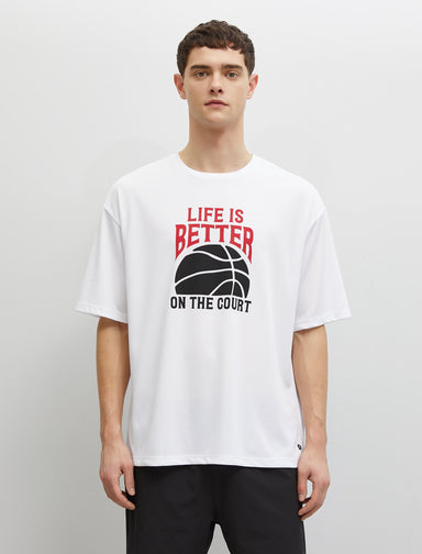 Basketball Graphic Tshirt in White