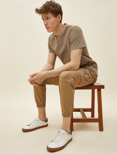 Twill Cargo Jogger Pant in Camel