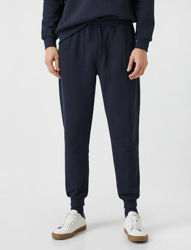 Waffle Sweat Pants in Navy