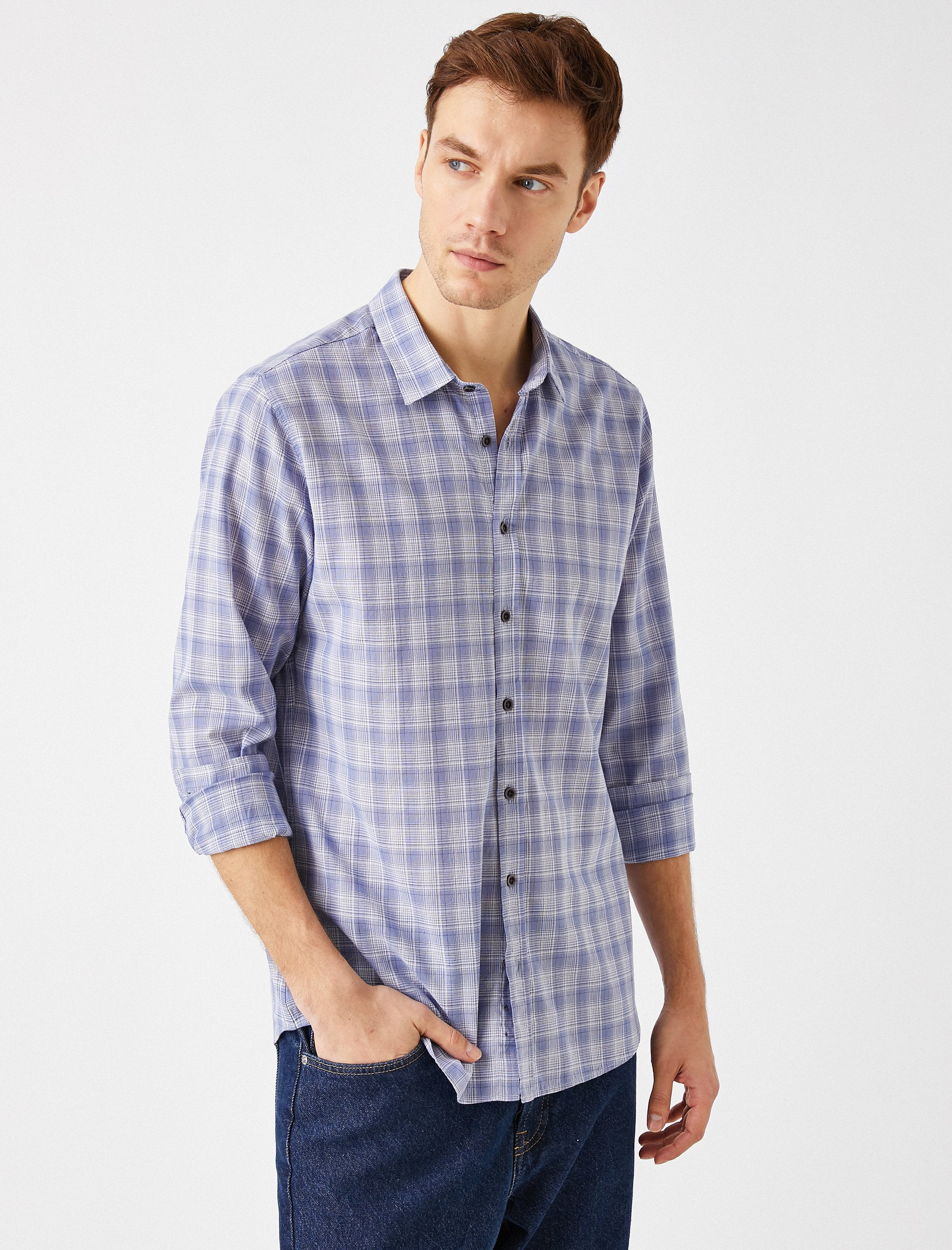 Plaid Shirt in Blue