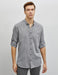 Textured Twill Shirt in Gray