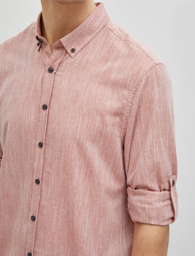 Textured Twill Shirt in Rose
