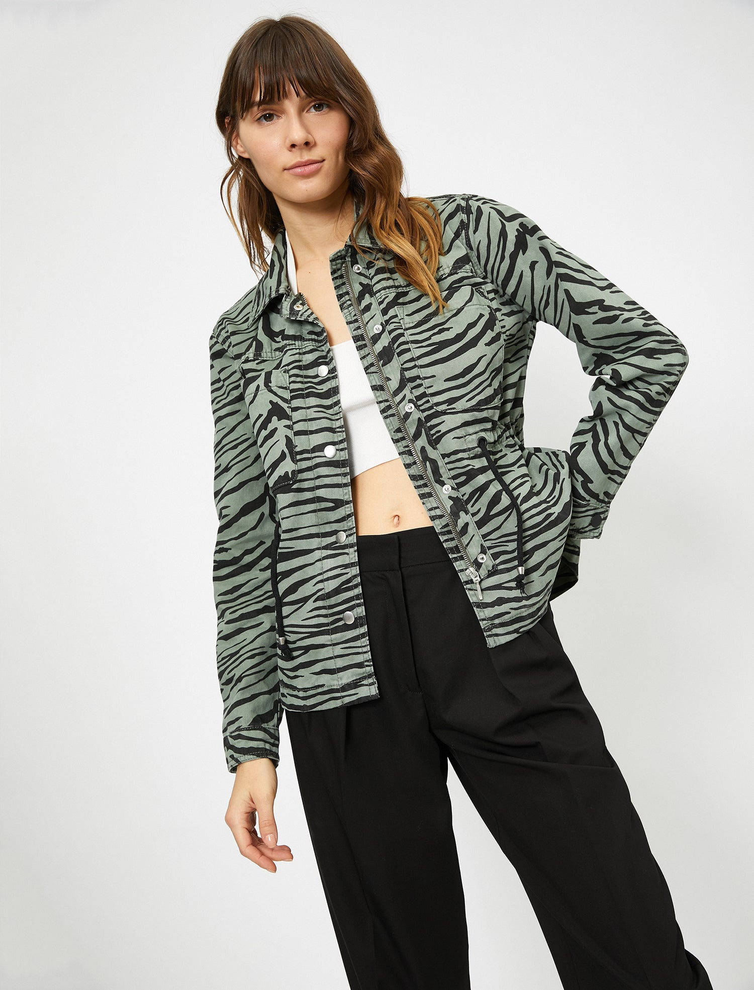 WOMEN BLAZERS DARK GREEN