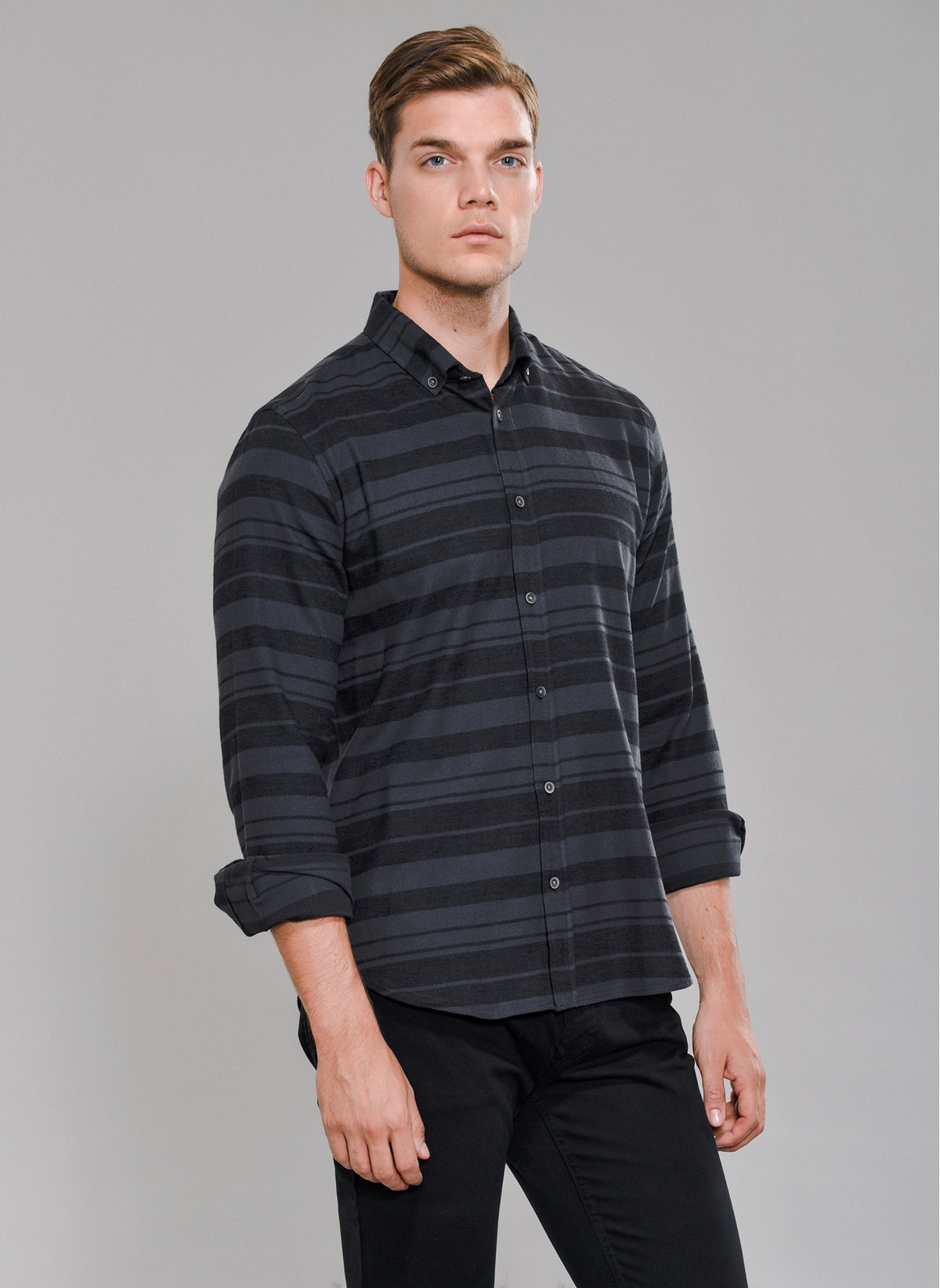 Horizontal Striped Shirt in Black