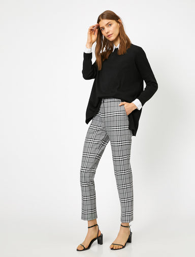 Plaid Trouser in Black