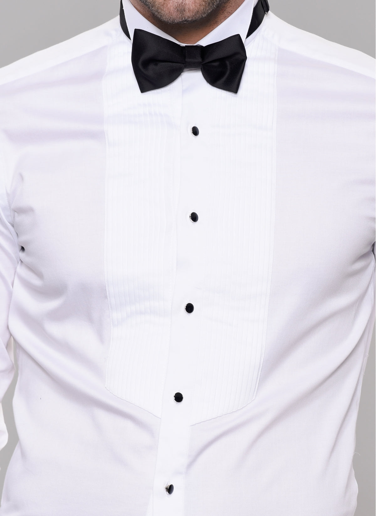 Tuxedo Stretch Shirt in White