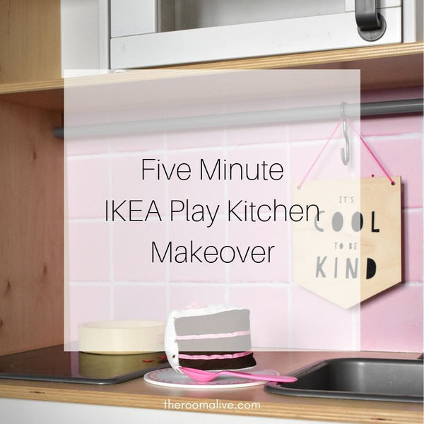 Five-Minute Ikea Play Kitchen Makeover