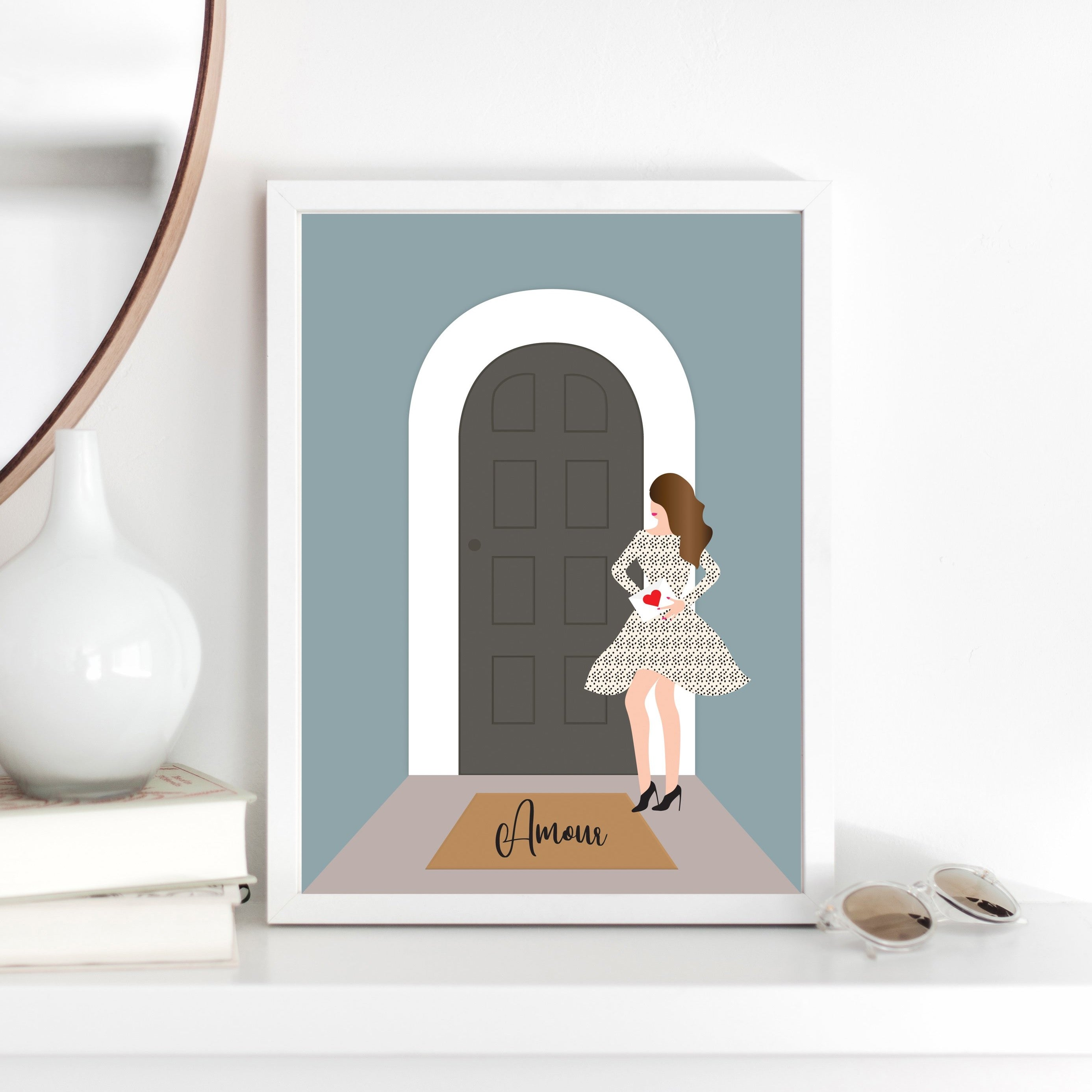 Girl by the Door Print - Customise your own
