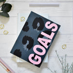 Load image into Gallery viewer, A5 Notebook Animal Print 'Goals'