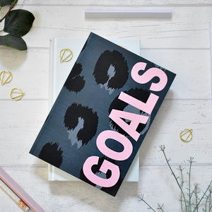 A5 Notebook Animal Print 'Goals'