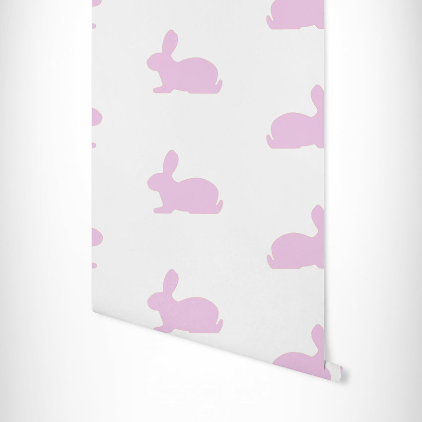 Bunnies Wallpaper - Pink