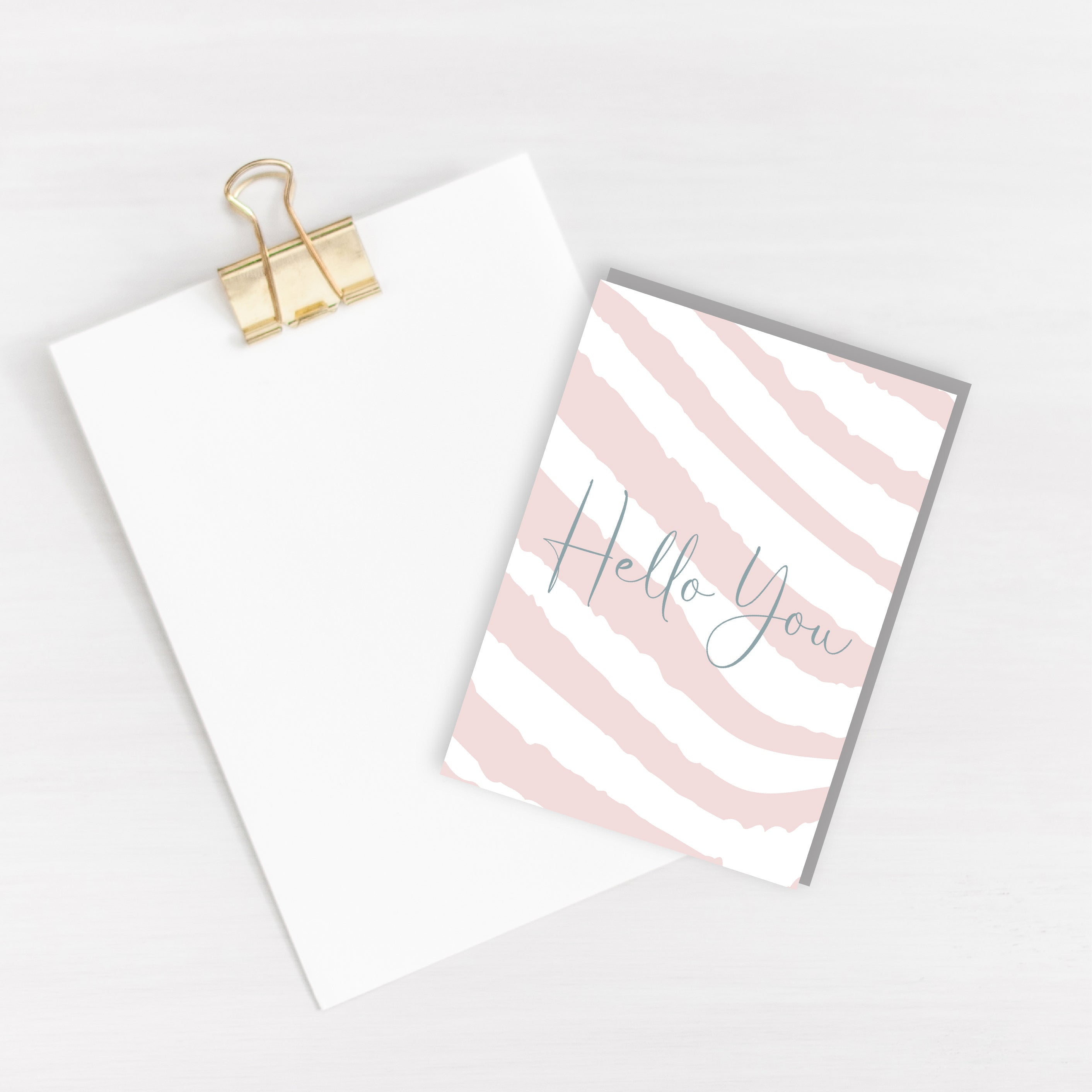 Hello You Card - Blank Inside - Recycled