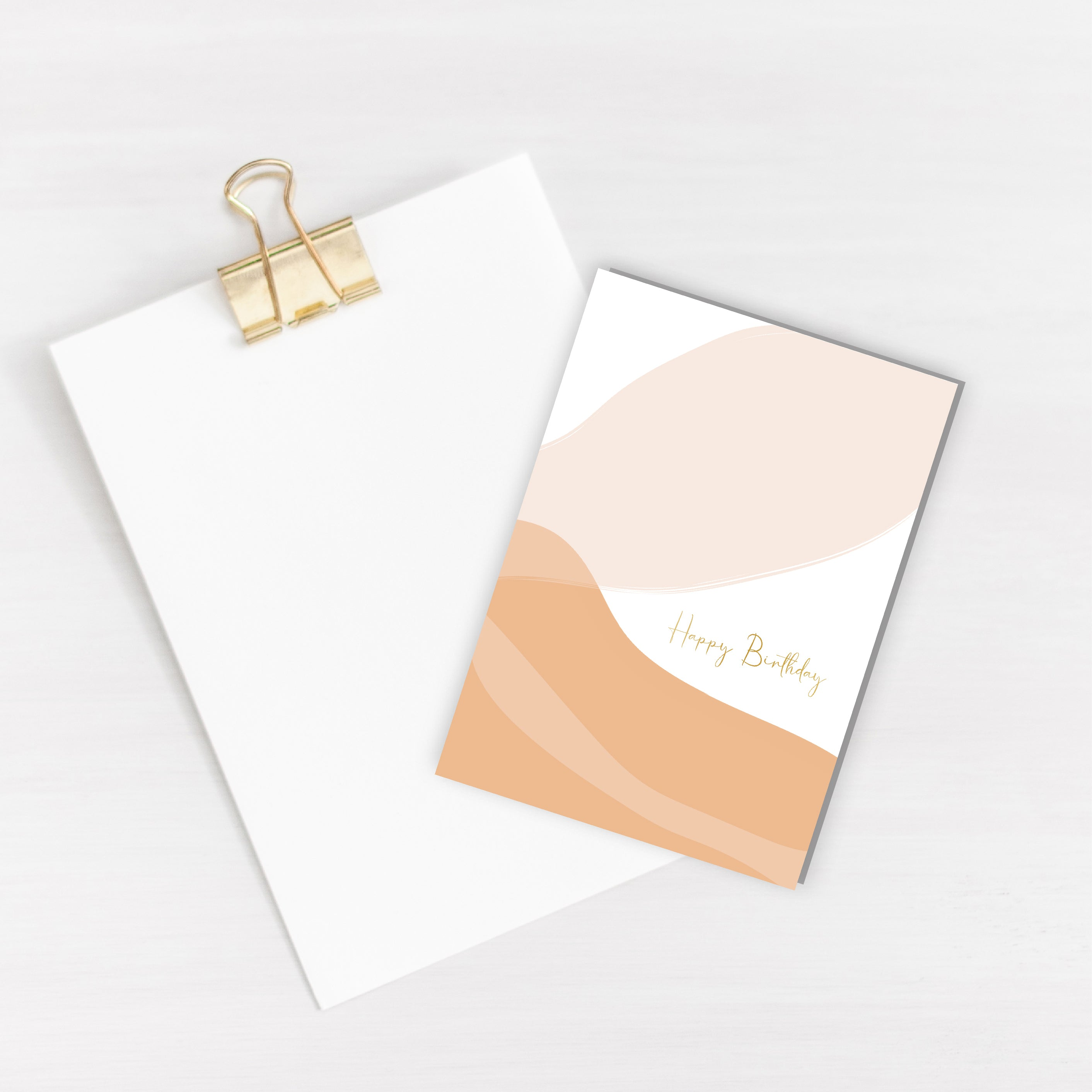 Happy Birthday Petal Gold Foiled Card