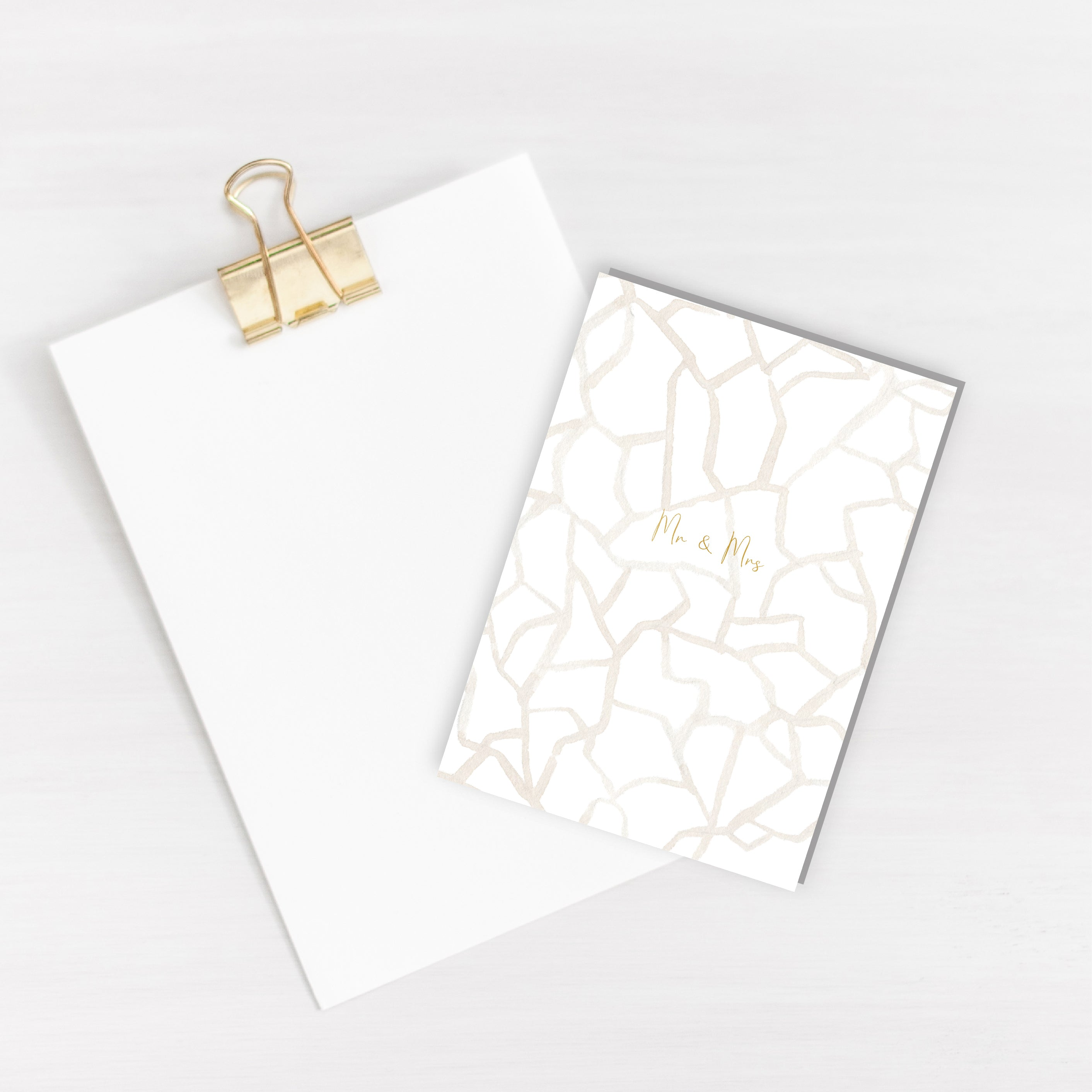 Mrs & Mrs Branch Foiled Card