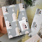 Load image into Gallery viewer, Christmas Gift Wrap - Girl on Pink Door - Pack of 2 Sheets