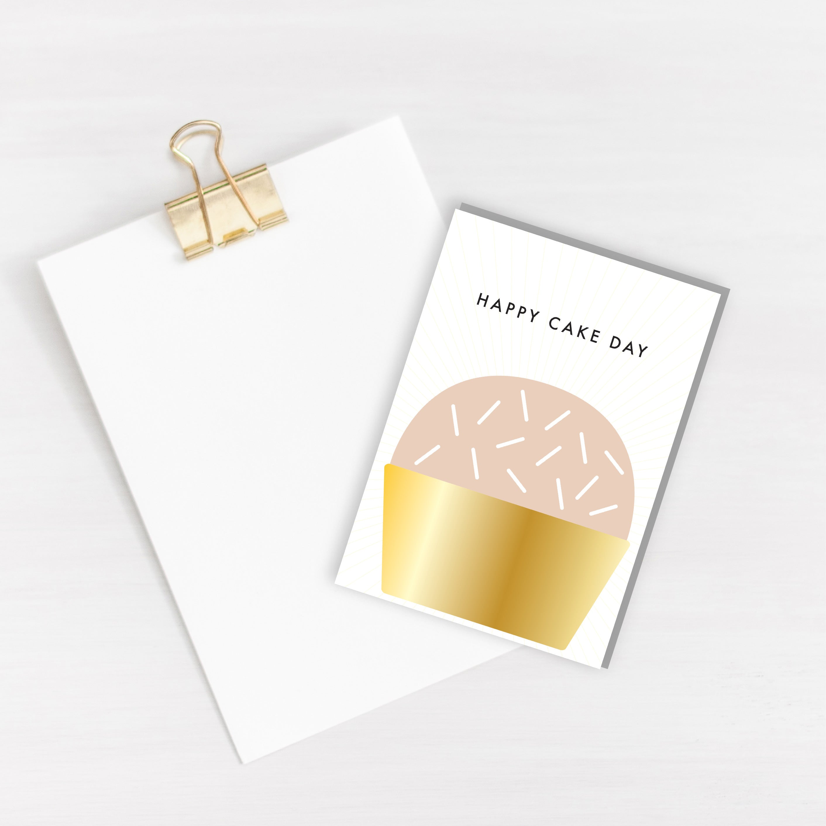 Happy Cake Day Card - Blank Inside