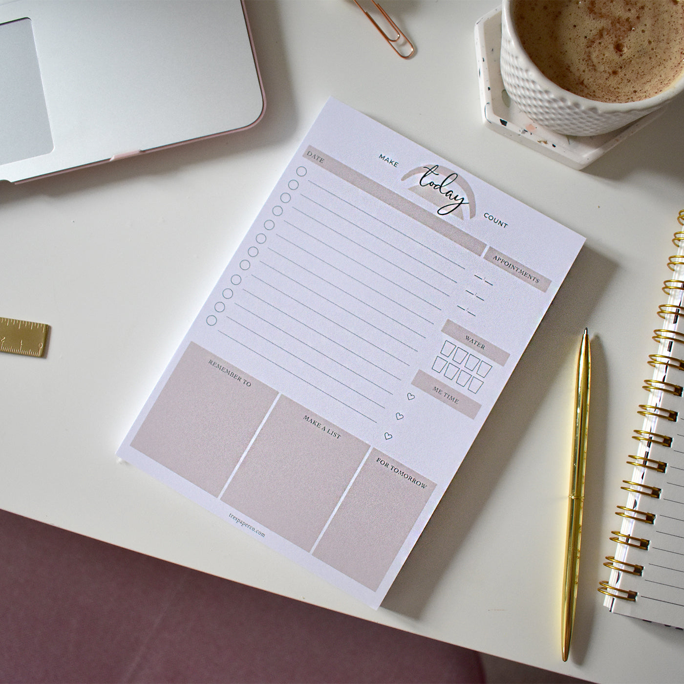 Daily Planner 'Make Today Count'