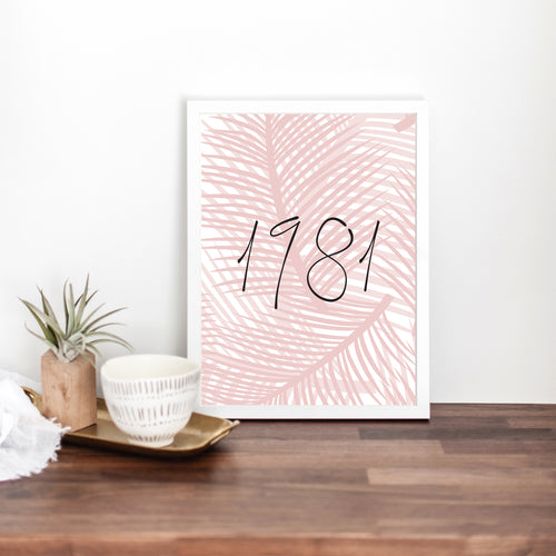 Palm Leaf Print Pink - Customise your own