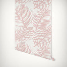 Load image into Gallery viewer, Palm Leaf Garden Wallpaper - Blush