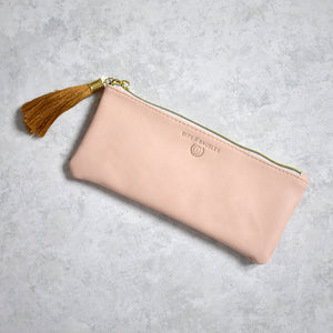 Blush Vegan Leather Pencil Pouch