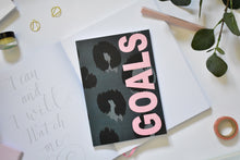 Load image into Gallery viewer, A5 Notebook Animal Print 'Goals' Dotted