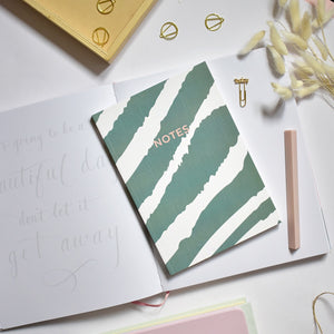 A5 Notebook Green Zebra