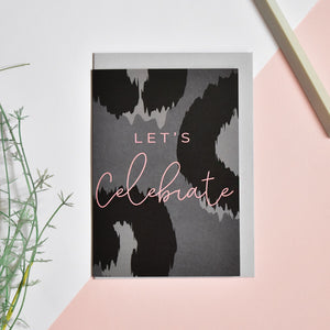 Let's Celebrate Card - Blank Inside - Recycled