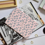 Load image into Gallery viewer, A5 Notebook Animal Print Pink