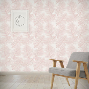 Palm Leaf Garden Wallpaper - Blush