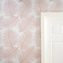 Load image into Gallery viewer, This stunning pink wallpaper designed and printed in England in a delicate blush shade allows you to add a light and airy yet elegant element to any room in your home.