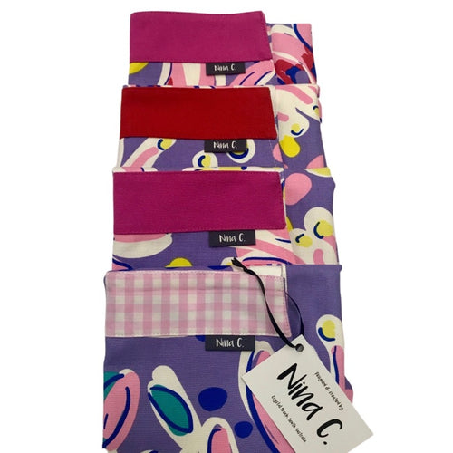 Bold Purple Flowers Apron