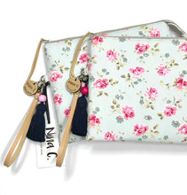 Load image into Gallery viewer, Pink & Blue Roses Classic Clutch