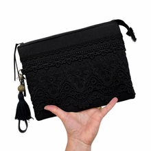Load image into Gallery viewer, Black on Black Classic Clutch