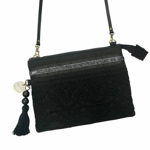 Black on Black Cross Body Bag