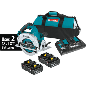 "Makita XSH06PT1 18V X2 LXT® Lithium-Ion (36V) Brushless Cordless 7-1/4"" Circular Saw Kit with 4 Batteries (5.0Ah)"