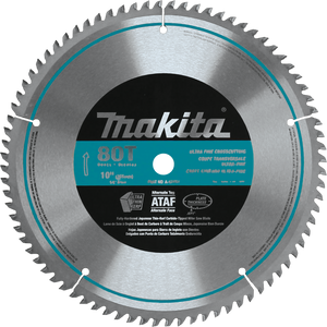"Makita A-93681 10"" 80T Micro-Polished Miter Saw Blade"