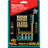 Makita B-53970 Impact GOLD® 18 Pc. Ultra-Magnetic Insert Bit and Impact Socket Set