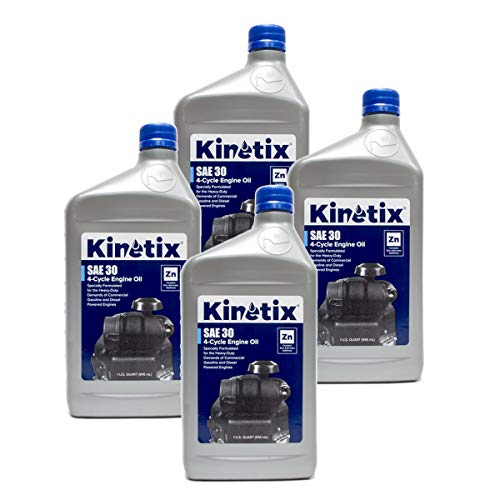 4PK Quart Kinetix High Performance Small Engine SAE 30Oil 80003 4-Cycle Engine