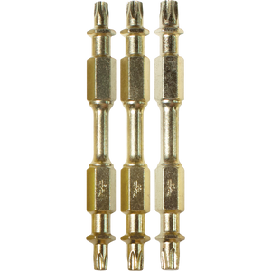 "Makita B-49616 Impact GOLD® 3 Pc. Assorted (2-1/2"") Torx Double-Ended Power Bits"