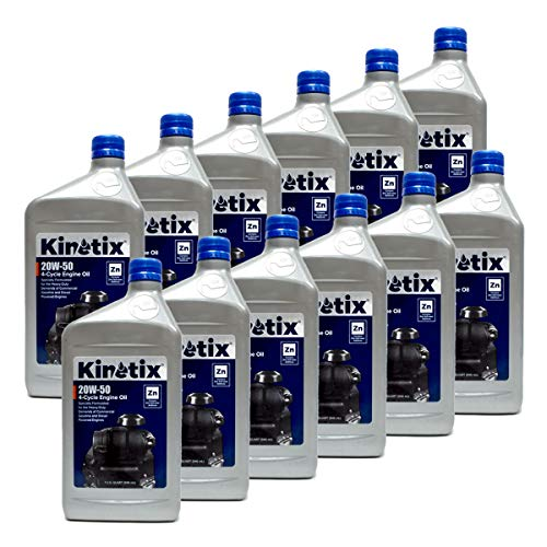 12PK Kinetix 20W-50 Small Engine Oil 1 Quart Bottle 80007