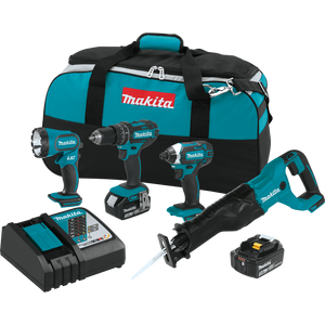 Makita XT440 18V LXT® Lithium-Ion Cordless 4-Pc. Combo Kit (3.0Ah)