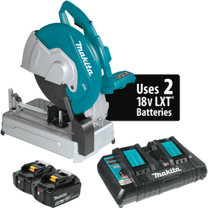 "Makita XWL01PT 18V X2 LXT® Lithium-Ion (36V) Brushless Cordless 14"" Cut-Off Saw Kit (5.0Ah)"