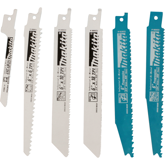 Makita 723086-A-A 6 Pc. Recipro Saw Blade Assortment Pack