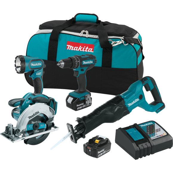 Makita XT442 18V LXT® Lithium-Ion Cordless 4-Pc. Combo Kit (3.0Ah)
