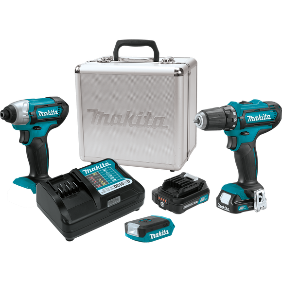 Makita CT321RX 12V max CXT® Lithium-Ion Cordless 3-Pc. Combo Kit (2.0Ah)