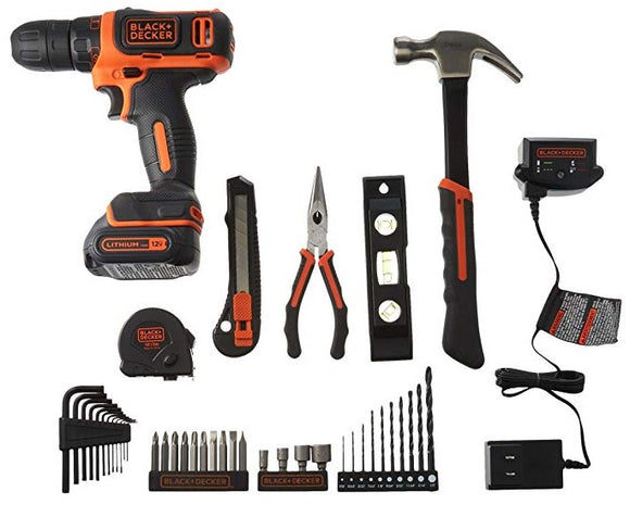 Black & Decker BCPK1249C 12V Drill/Driver Project Kit
