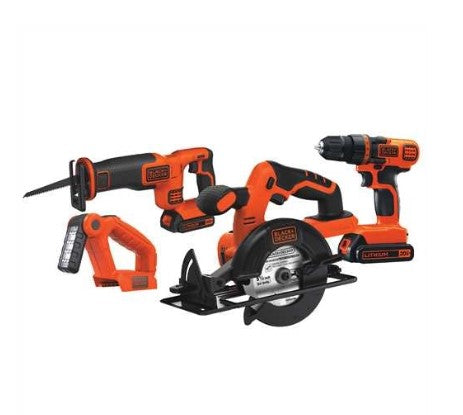 Black & Decker BD4KITCDCRL 20V Max 4 Tool Combo Kit